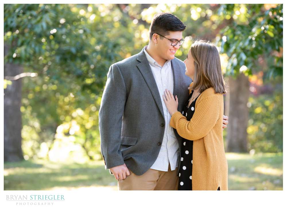 engagement photos in the park