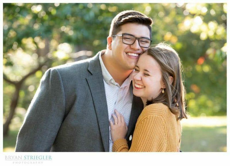 bright airy engagement photo
