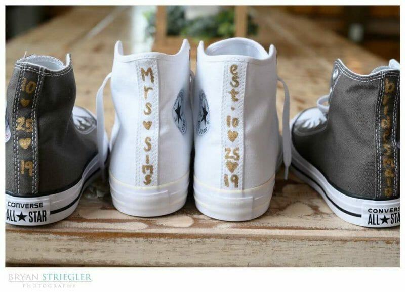 custom wedding Converse shoes