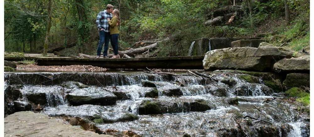 engagement session at Park Springs Park