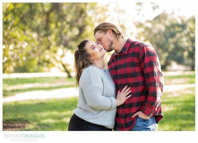 engagement session at Loose Park