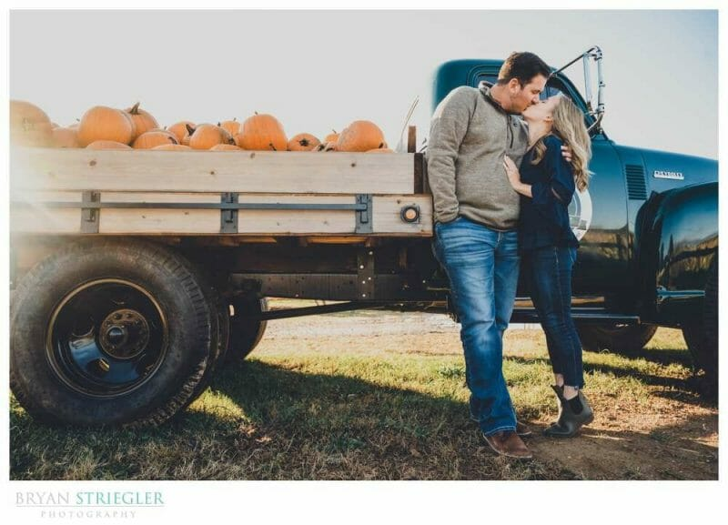 engagements with an old truck