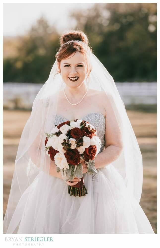 bright sunny bridal portraits