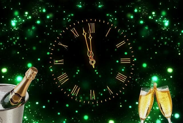 Clock Champagne New Year S Day