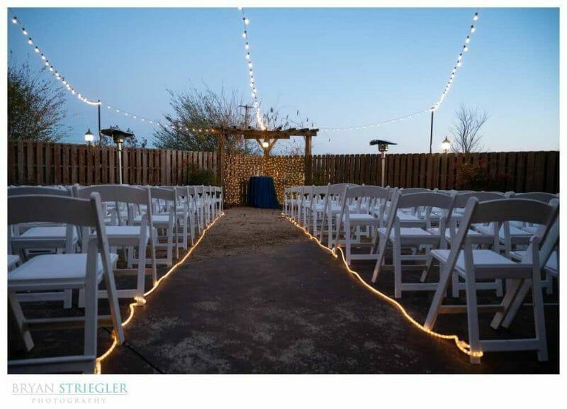 night wedding at Willie James