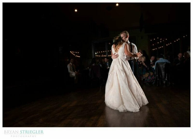 emotional first dance at wedding