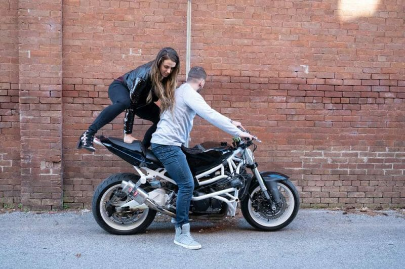 engagements with a motorcycle