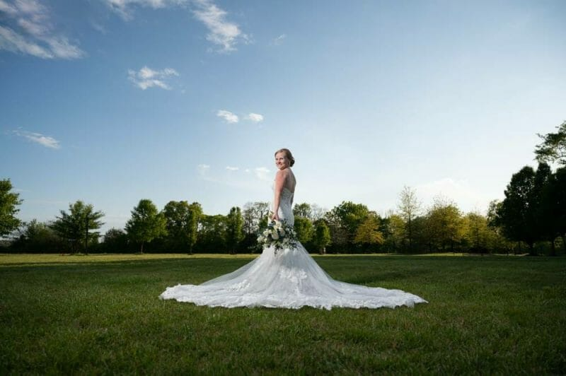 bridal session at Matt Lane Farm