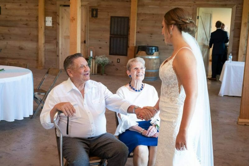 first look with grandparents