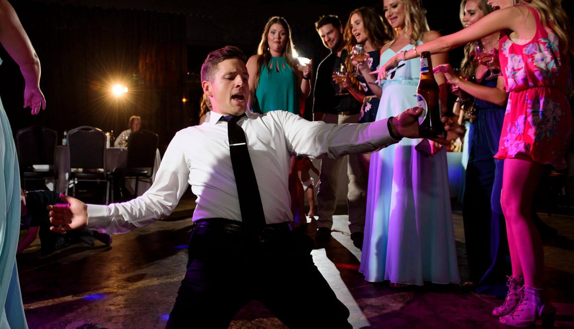Wedding party reception photo northwest arkansas