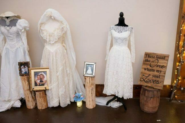 generational wedding dresses at wedding