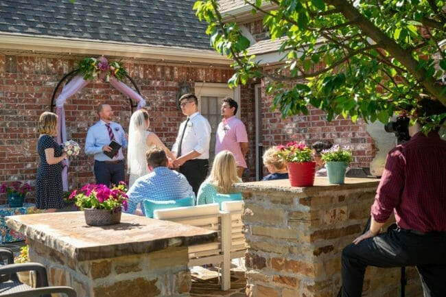 backyard wedding during Covid