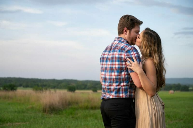 Engagement session at Prairie Grove Battlefield Park