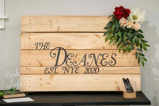 custom wooden board for wedding