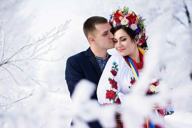 Winter wedding abroad