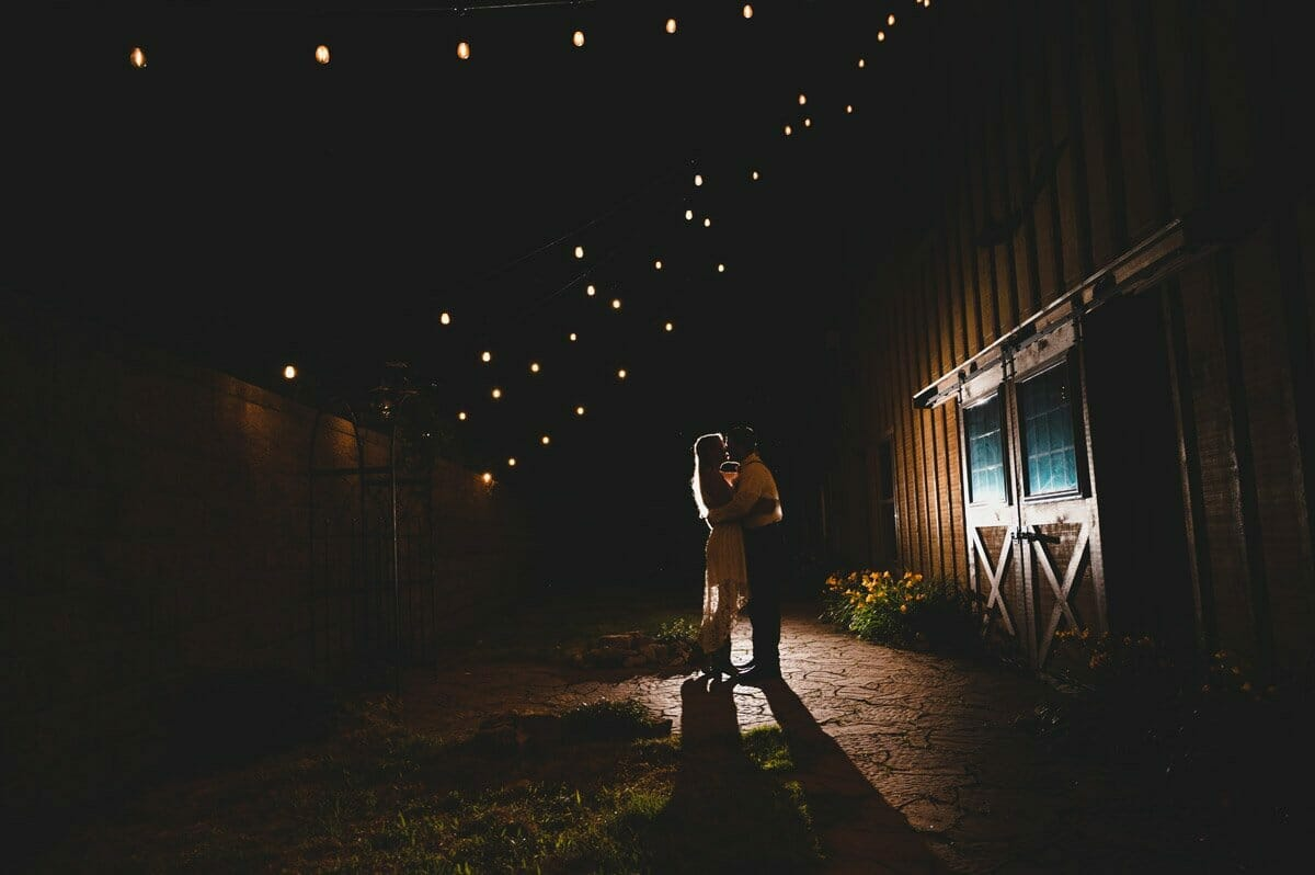dramatic night portrait at Under the Woods
