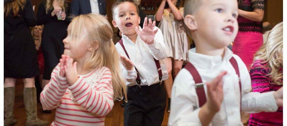 kids dancing at the wedding