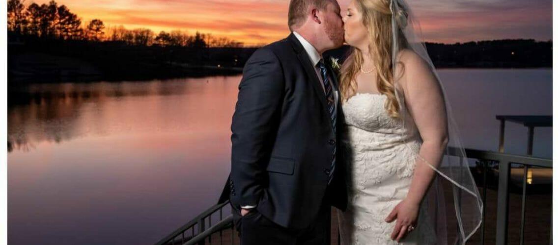 sunset wedding at Lakepoint